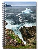 Melting Iceberg Spiral Notebook