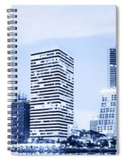 Night Scenes Of City Spiral Notebook