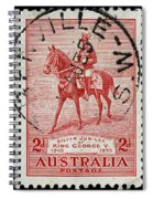 old Australian postage stamp Spiral Notebook