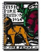 old British postage stamp Spiral Notebook