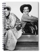 Silent Film Still: Cowboys Spiral Notebook