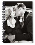 Silent Film Still: Kissing Spiral Notebook