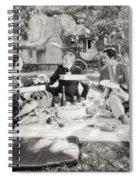 Silent Film Still: Picnic Spiral Notebook