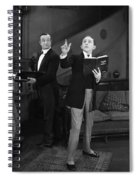 Silent Film Still: Reading Spiral Notebook