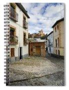 Street In Historic Albaycin In Granada Spiral Notebook