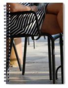 Stripped Dress Spiral Notebook