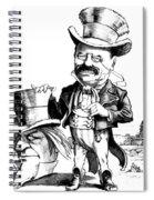 Teddy Roosevelt Cartoon Spiral Notebook