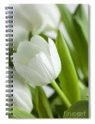 White Tulips Spiral Notebook