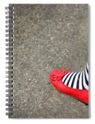 4th July Foot Spiral Notebook