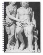 Aesculapius, Greek God Of Medicine Spiral Notebook