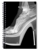 An X-ray Of A Foot In A High Heel Shoe Spiral Notebook