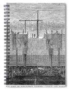 Brooklyn Bridge, 1870 Spiral Notebook