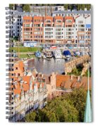 City Of Gdansk In Poland Spiral Notebook