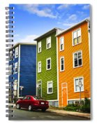 Colorful Houses In St. John's Newfoundland Spiral Notebook