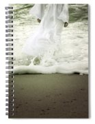 Girl At The Sea Spiral Notebook