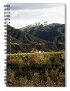 Ojai Valley With Snow Spiral Notebook