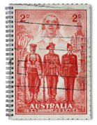 old Australian postage stamp Spiral Notebook
