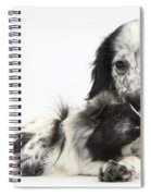 Puppy And Guinea Pig Spiral Notebook