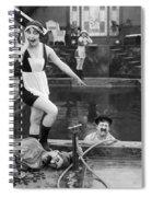Silent Still: Bathers Spiral Notebook