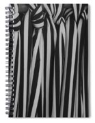 5 Ties In Black And White Spiral Notebook
