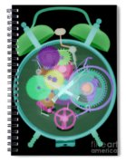 X-ray Of An Alarm Clock Spiral Notebook