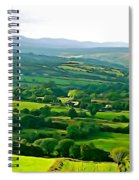 50 Shades Of Green Spiral Notebook