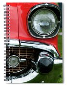 57 Chevy Left Front 8560 Spiral Notebook