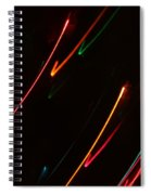 Abstract Motion Lights Spiral Notebook