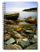 Atlantic Coast In Newfoundland Spiral Notebook