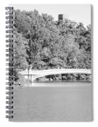 Bow Bridge In Black And White Spiral Notebook