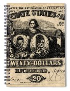 Confederate Banknote Spiral Notebook