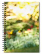 Flower Garden In Sunshine Spiral Notebook