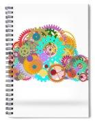 Gears Wheels Design  Spiral Notebook