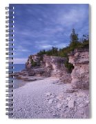 Georgian Bay Cliffs At Sunset Spiral Notebook