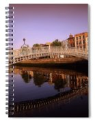 Hapenny Bridge, River Liffey, Dublin Spiral Notebook