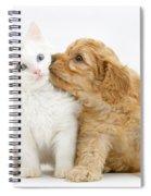 Kitten And Puppy Spiral Notebook