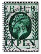 old British postage stamp Spiral Notebook