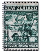 old New Zealand postage stamp Spiral Notebook