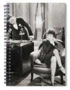 Silent Film Still: Offices Spiral Notebook