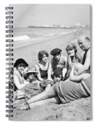 Silent Still: Bathers Spiral Notebook
