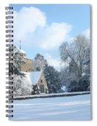 Snowy Scene In England Spiral Notebook