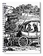 Stagecoach, 19th Century Spiral Notebook