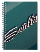 65 Plymouth Satellite Logo-8502 Spiral Notebook