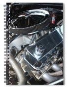67 Black Camaro Ss 396 Engine-8033 Spiral Notebook