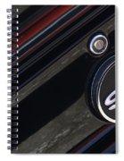 67 Black Camaro Ss Gas Tank-8019 Spiral Notebook
