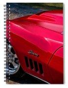 69 Red Detail Spiral Notebook