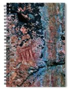 Painted Rocks At Hossa With Stone Age Paintings Spiral Notebook