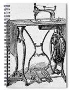 Sewing Machine Spiral Notebook