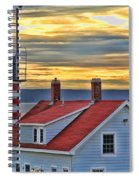 West Quoddy Head Lighthouse 3822 Spiral Notebook