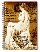 Winsome Woman Spiral Notebook